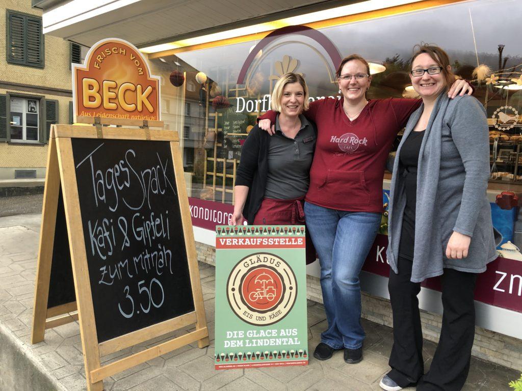 Bäckerei Walkringen verkauf Glädus Glace aus Boll.