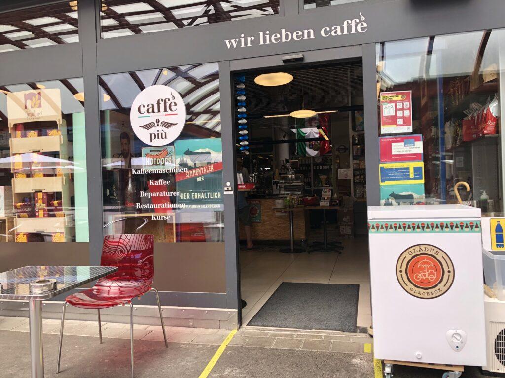Caffè più, ein echtes Juwel im Einkaufszentrum in Ittigen.