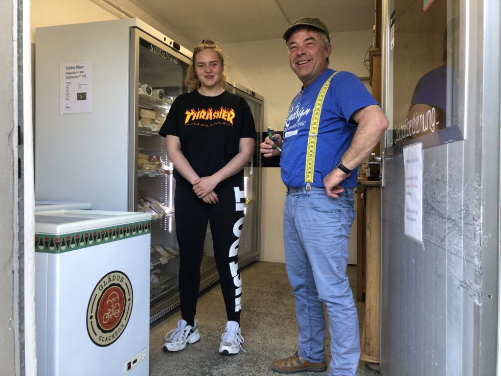Verkaufsstelle im Käsereiladen in Kleinroth.